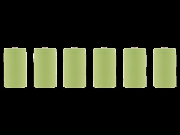 6 Stück Ni MH -Akkus, 1,2V Typ C