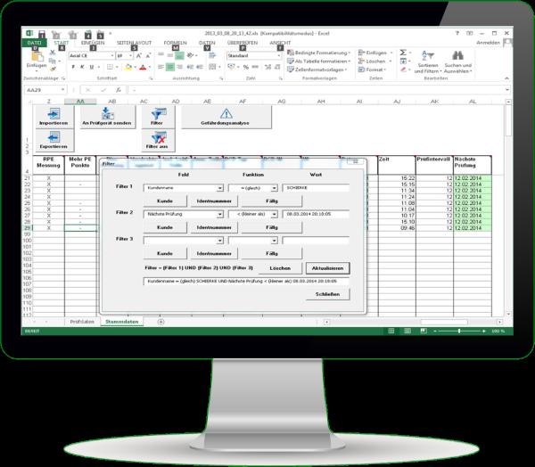Protokoll- und Tabellensoftware Safetydoc