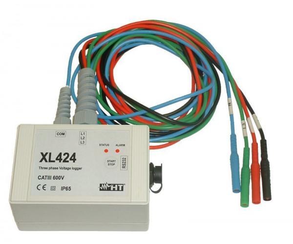 Dreiphasen Datenlogger Spannung XL424