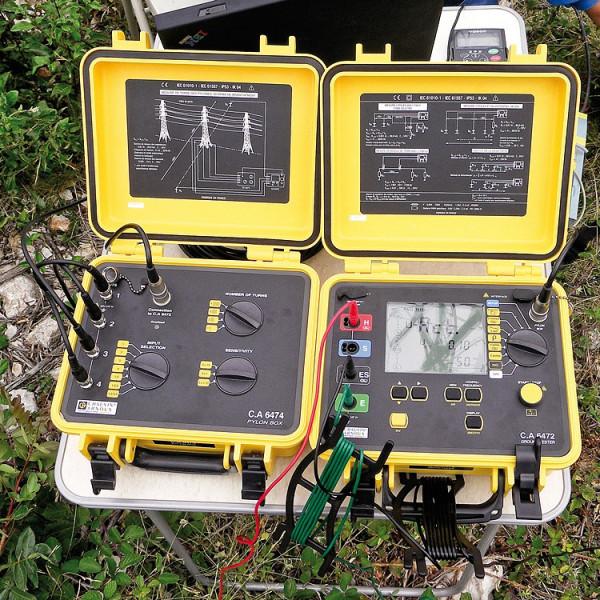 C.A 6474 Adapter für Hochspannungsmasten (PYLON BOX) + 4 AmpFlex 5m