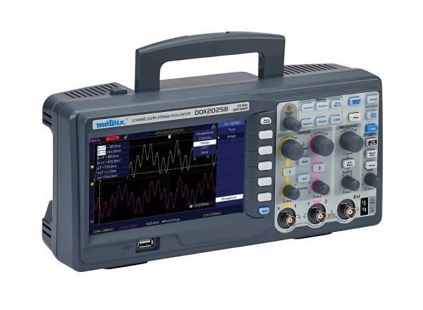 DOX 2025B Dig. Oszilloskop 2x25 MHz, Farbdisplay, USB, Ethernet