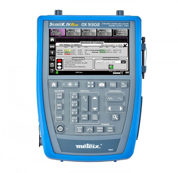 OX9302-BUS Tragbares Oszilloskop 2 x 300 MHz BUS