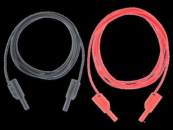 S2025 Prüfleitung, 1,5 m, 2 Stck. (schwarz, rot)